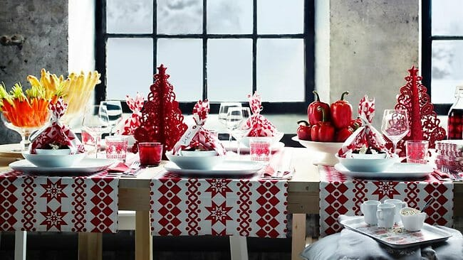 top Christmas holiday decorating ideas dining table setting