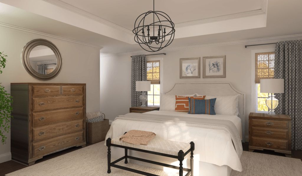 Master bedroom ideas Decorilla rendering