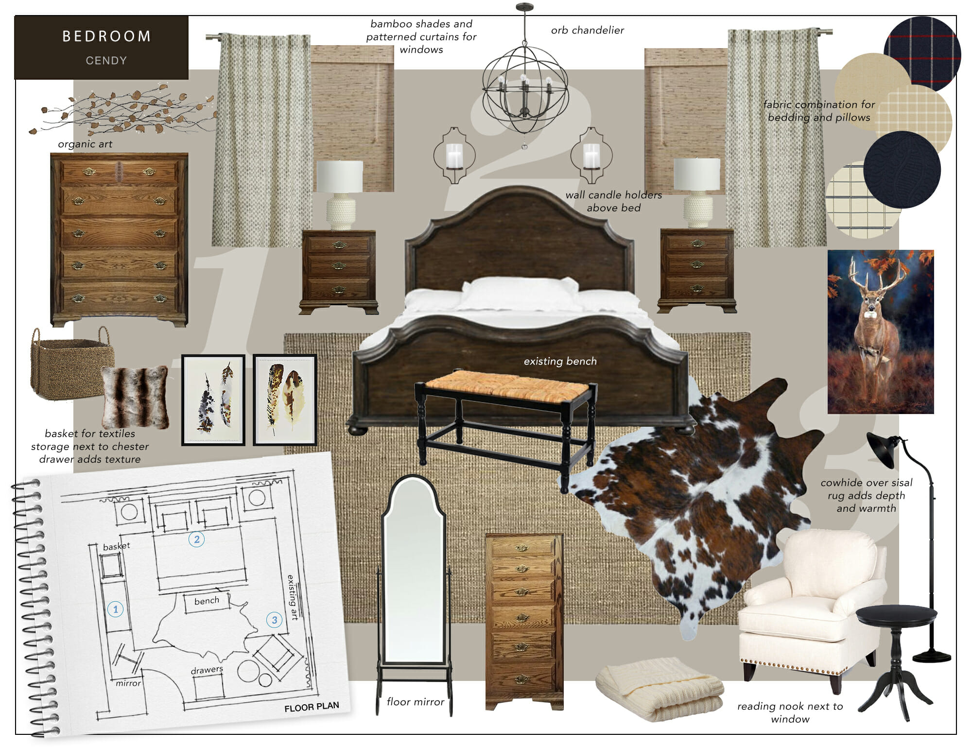 Transitional Style Living Room Mood Boards