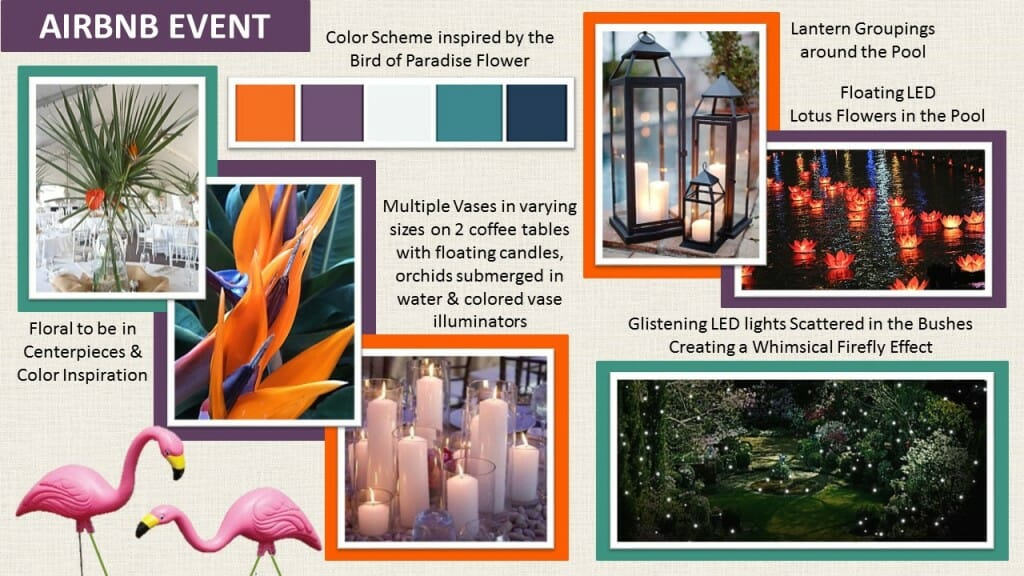Decorilla interior designer Emily A. Airbnb Style Board