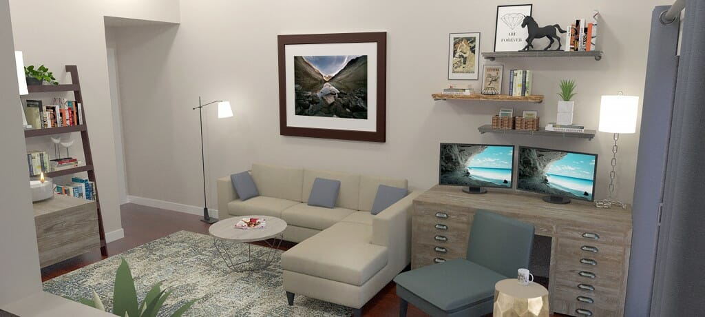 Decorilla interior designer Emily A. living view