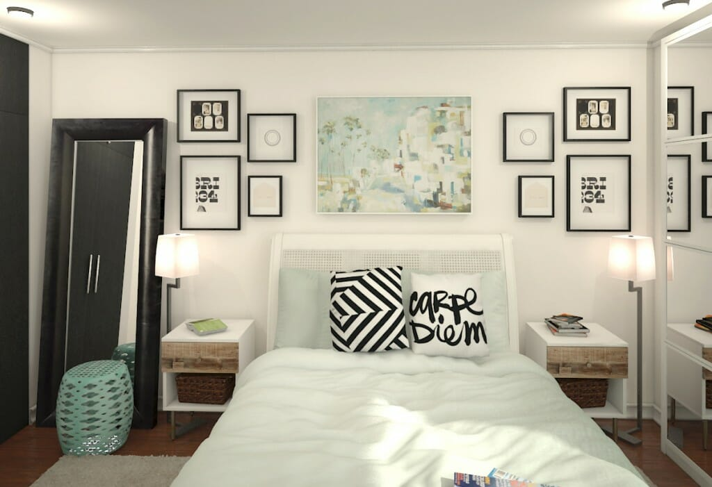 Online interior design help for a modern bedroom