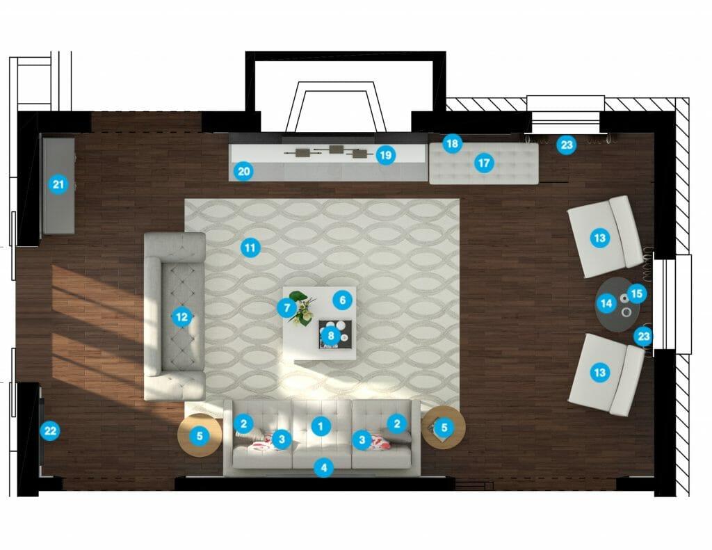 Online interior design services Decorilla floorplan