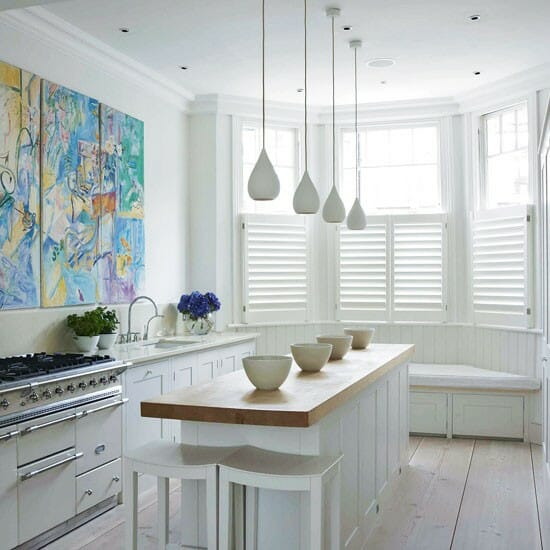 Attractive White Kitchen Design Help Lighting Ideas