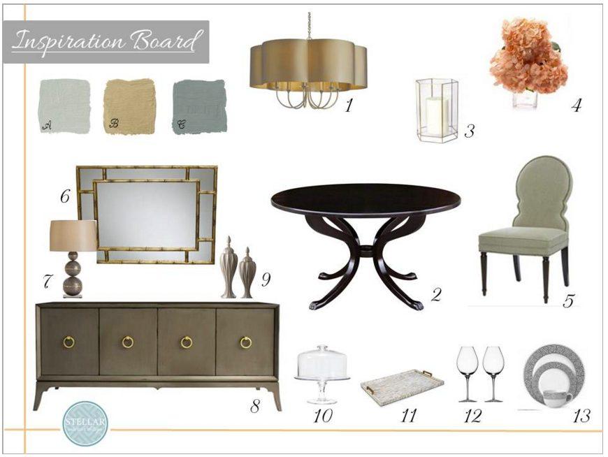 online interior design services Stellar moodboard