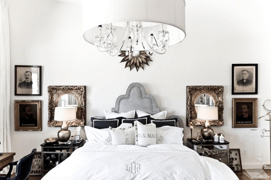 mixed metals bedroom design