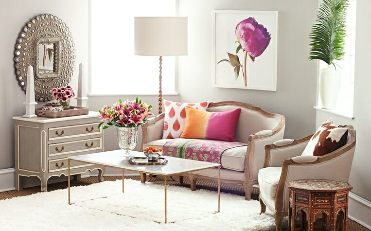 spring decorating ideas living room pops of color