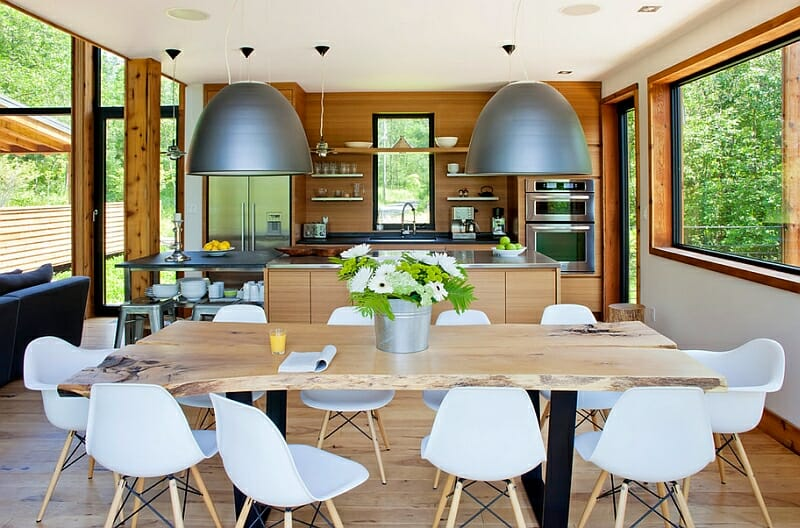 statement pendant lighting open kitchen