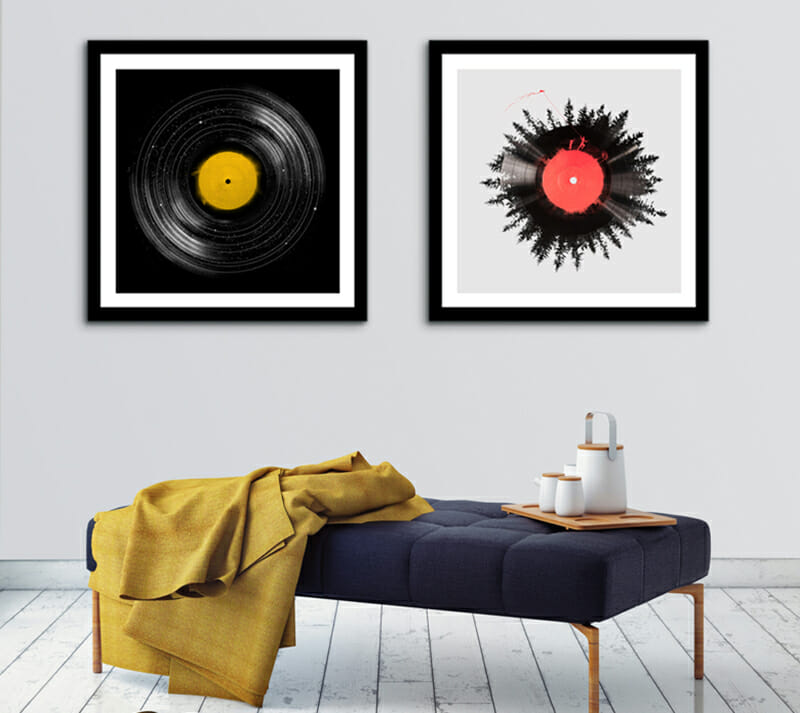 abstract art wall decor ideas