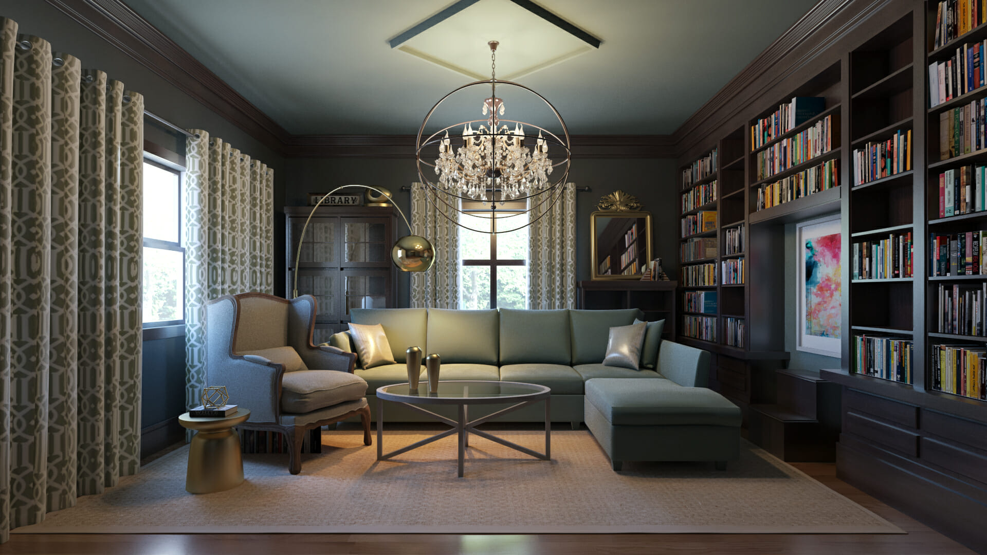 library design online lighting