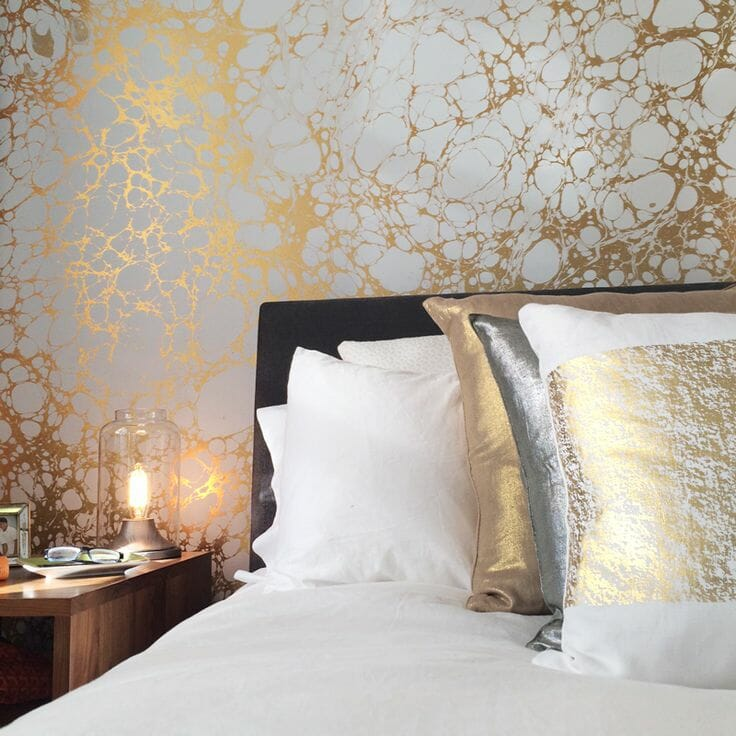 6 ways to enhance your room with designer wallpaper for Bed wallpaper design