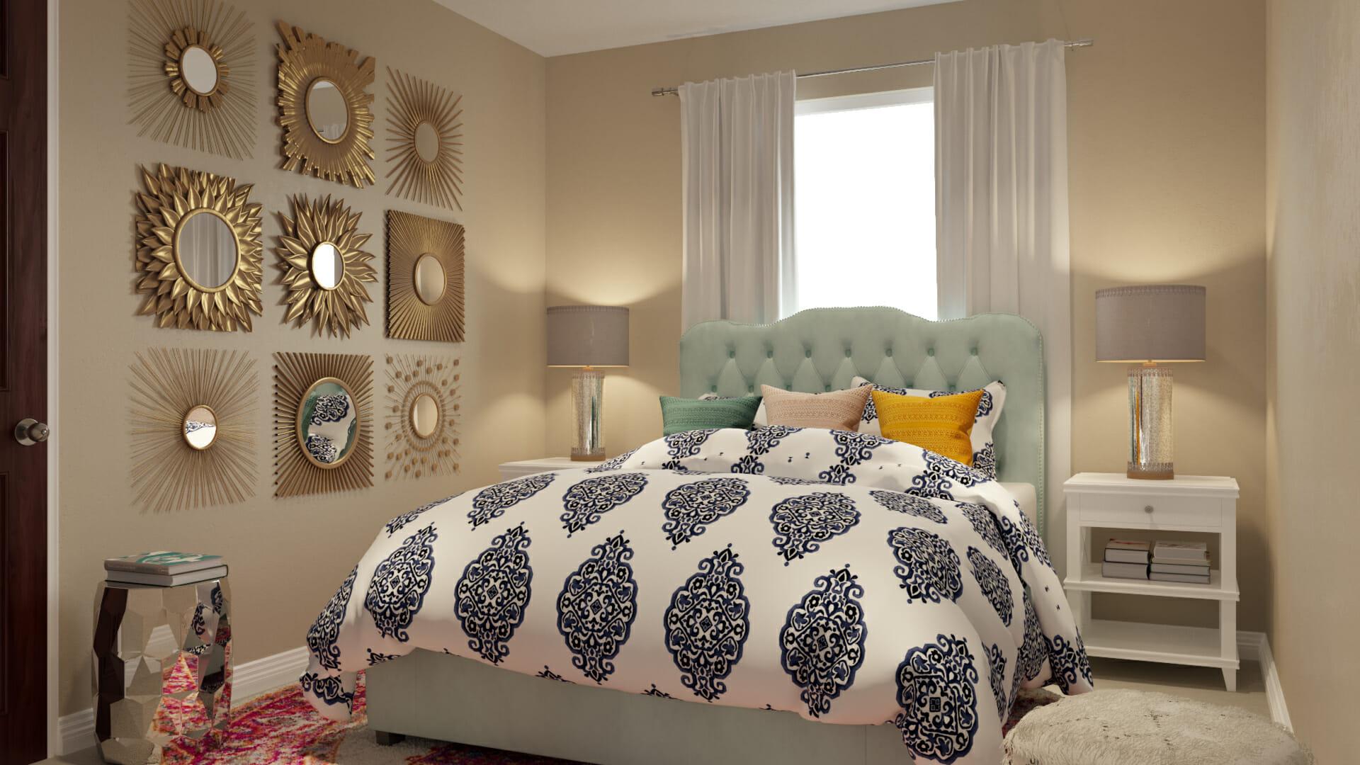 playful spring interior design bed sheets