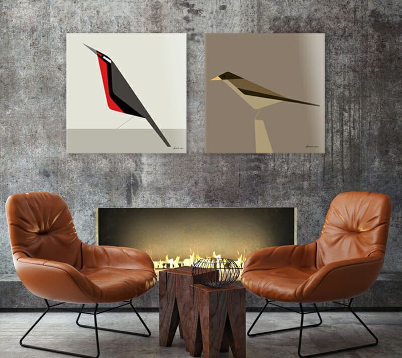 wall decor ideas pairing art