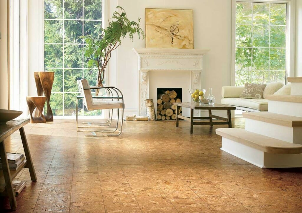 cork flooring sustainable intrior designer ideas