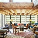 layered rugs cozy living room