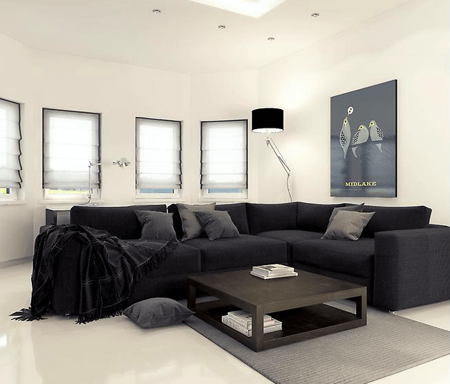 online interior design minimalist living room Mladen