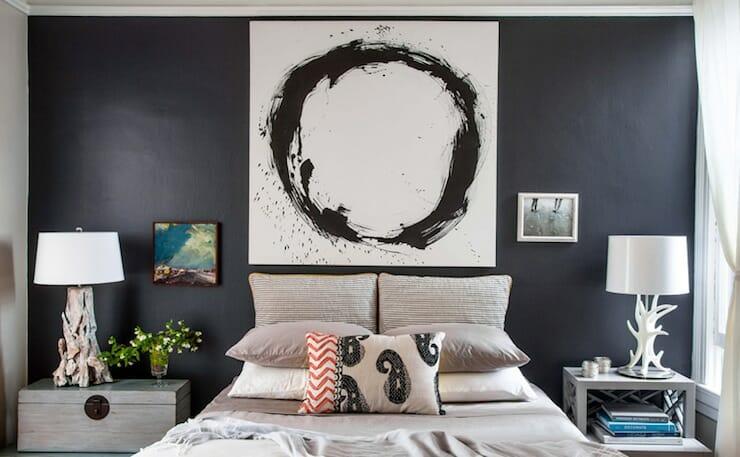 bedroom design mismatched night tables
