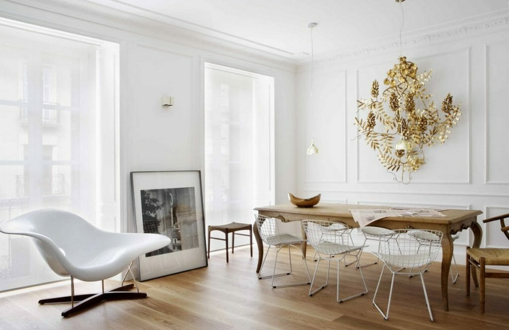 modern and antique decor