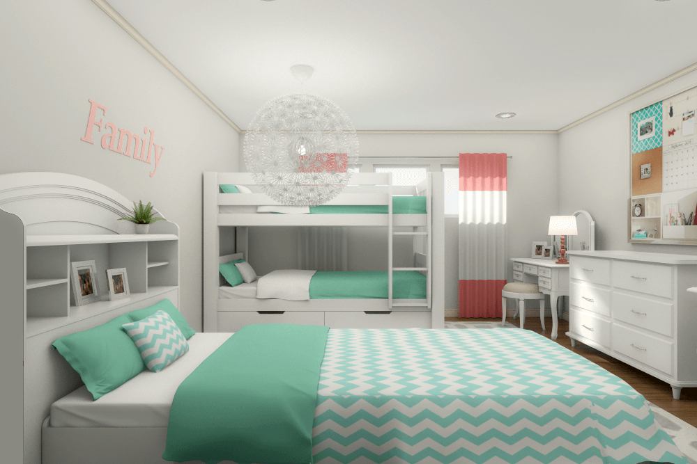 Beachy Teen Suite 3D Rendering By Decorilla Designer Picharat A