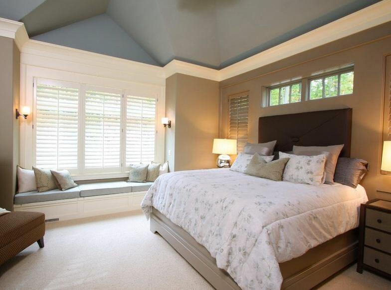 Дизайн покраска стен в спальне