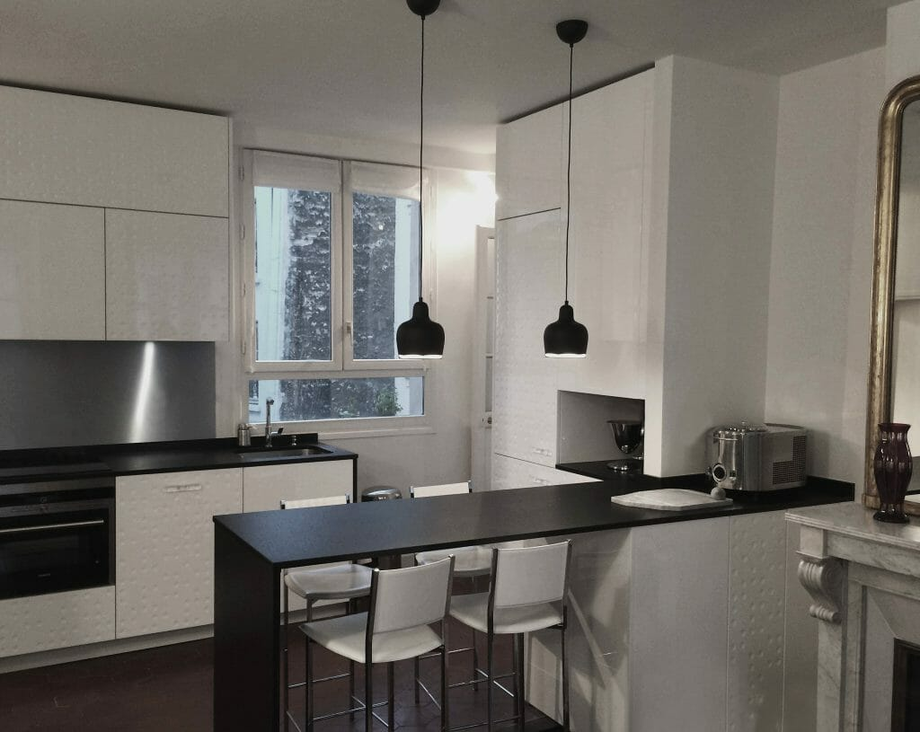 contemporary kitchen design rendering