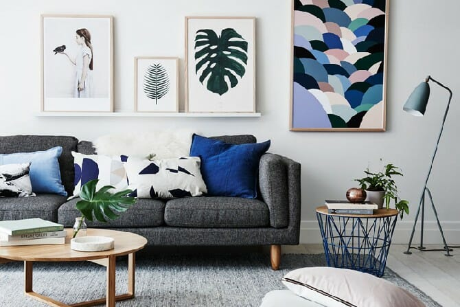 Before & After: Mid Century Modern Living Room Design Online - Decorilla