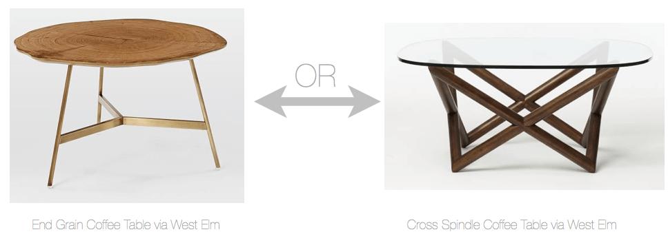 Mid century modern design coffee tables