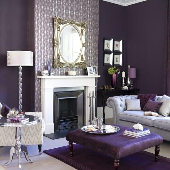 fall colors purple walls