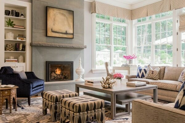 Exceptional Living Room With Fireplace Focal Point