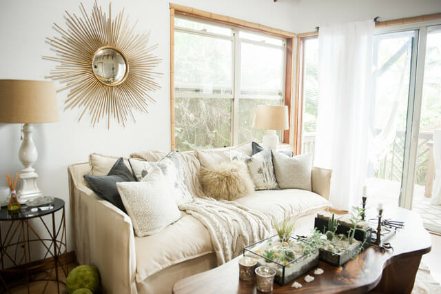 neutral boho eclectic design