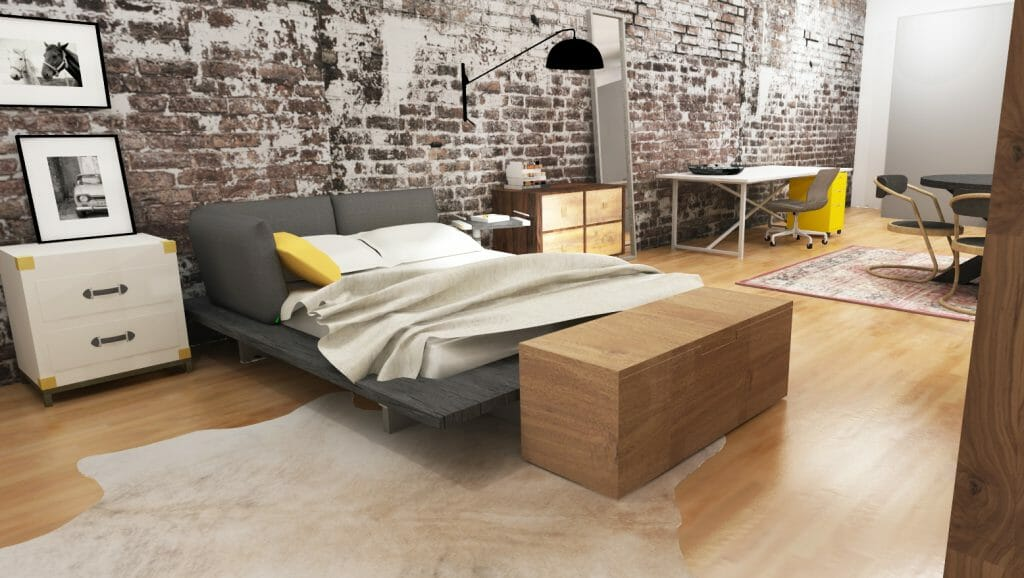 online interior design loft bedroom