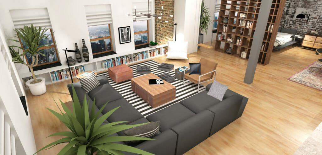online interior design loft design