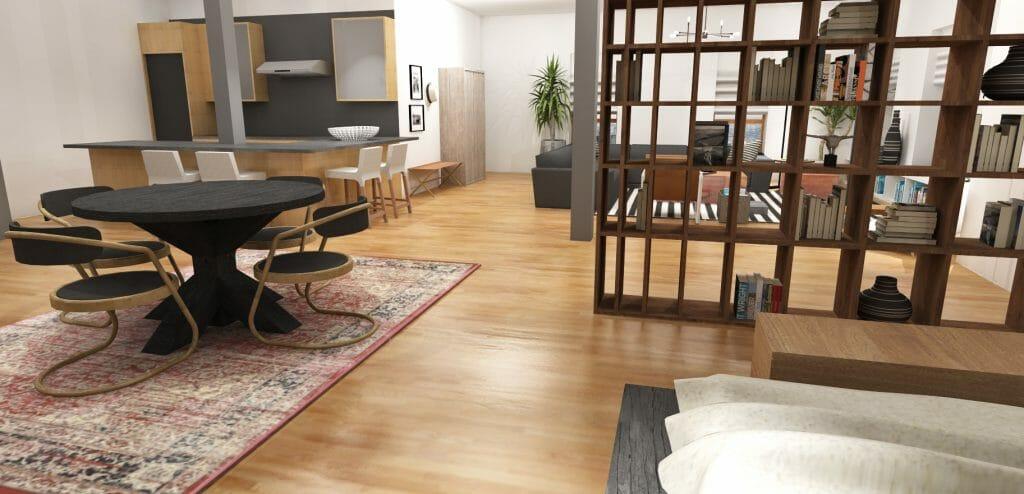 online interior design masculine loft