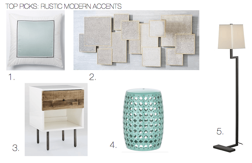 Rustic modern design accents