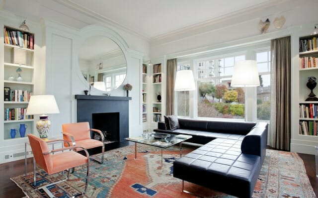 living-room-with-vintage-rug