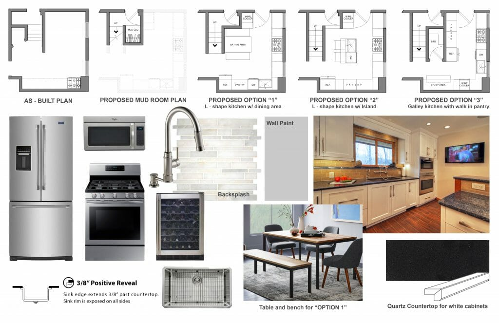 Online Interior Designer Kitchen Design Moodboard