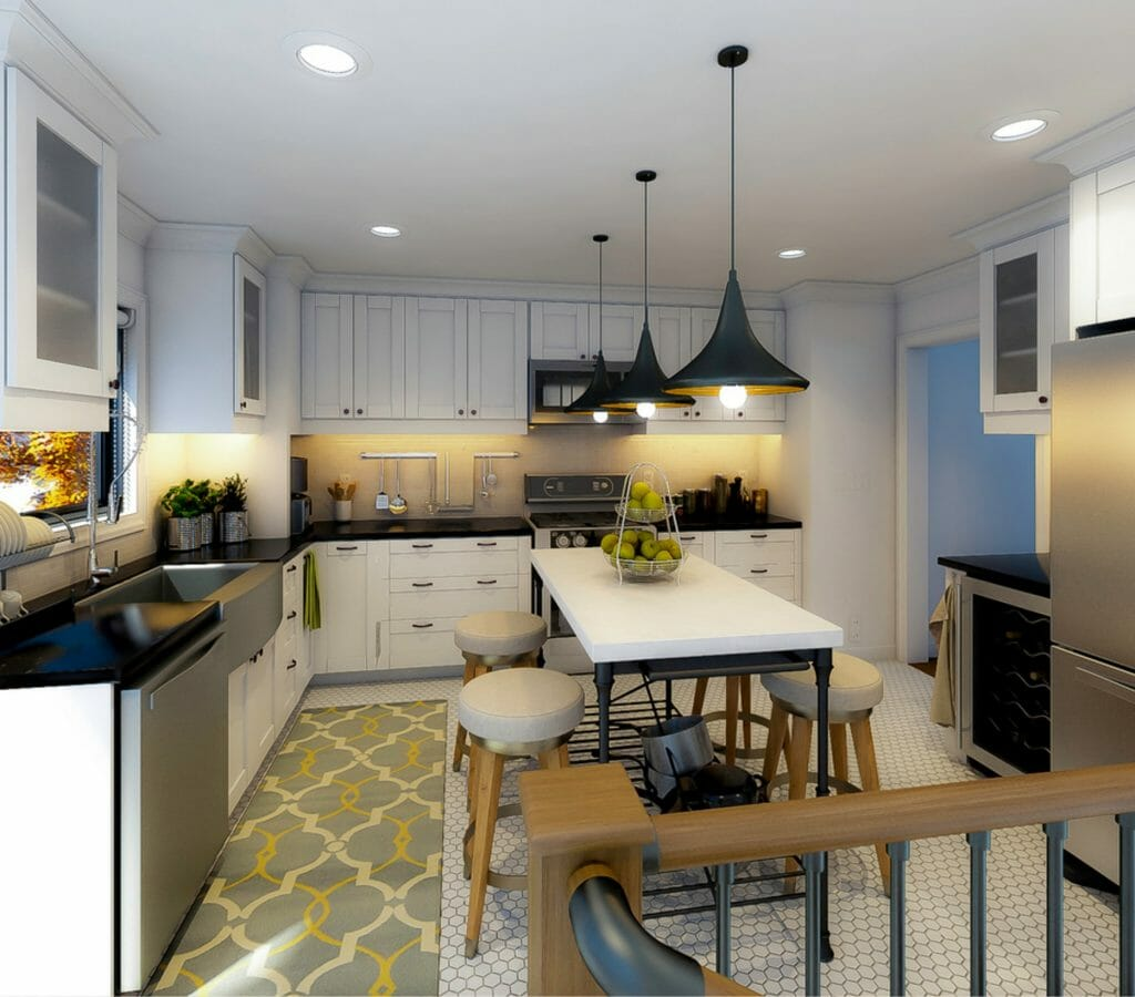 Online Interior Designer Kitchen View 3