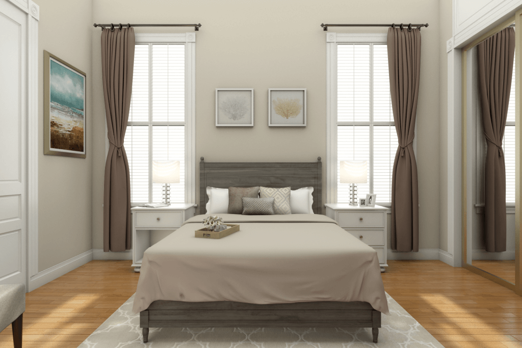 Cozy Transitional Bedroom Design By Picharat