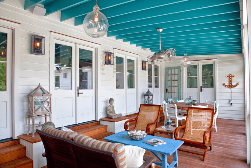 porch design beach style