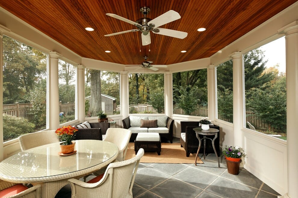 Top 5 porch design essentials decorilla - Enclosed balcony design ideas oases of serenity ...
