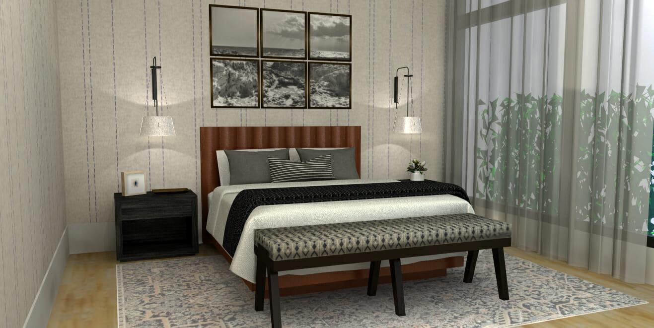 Master bedroom makeover by one of the best Chicago interior designers Caroline B
