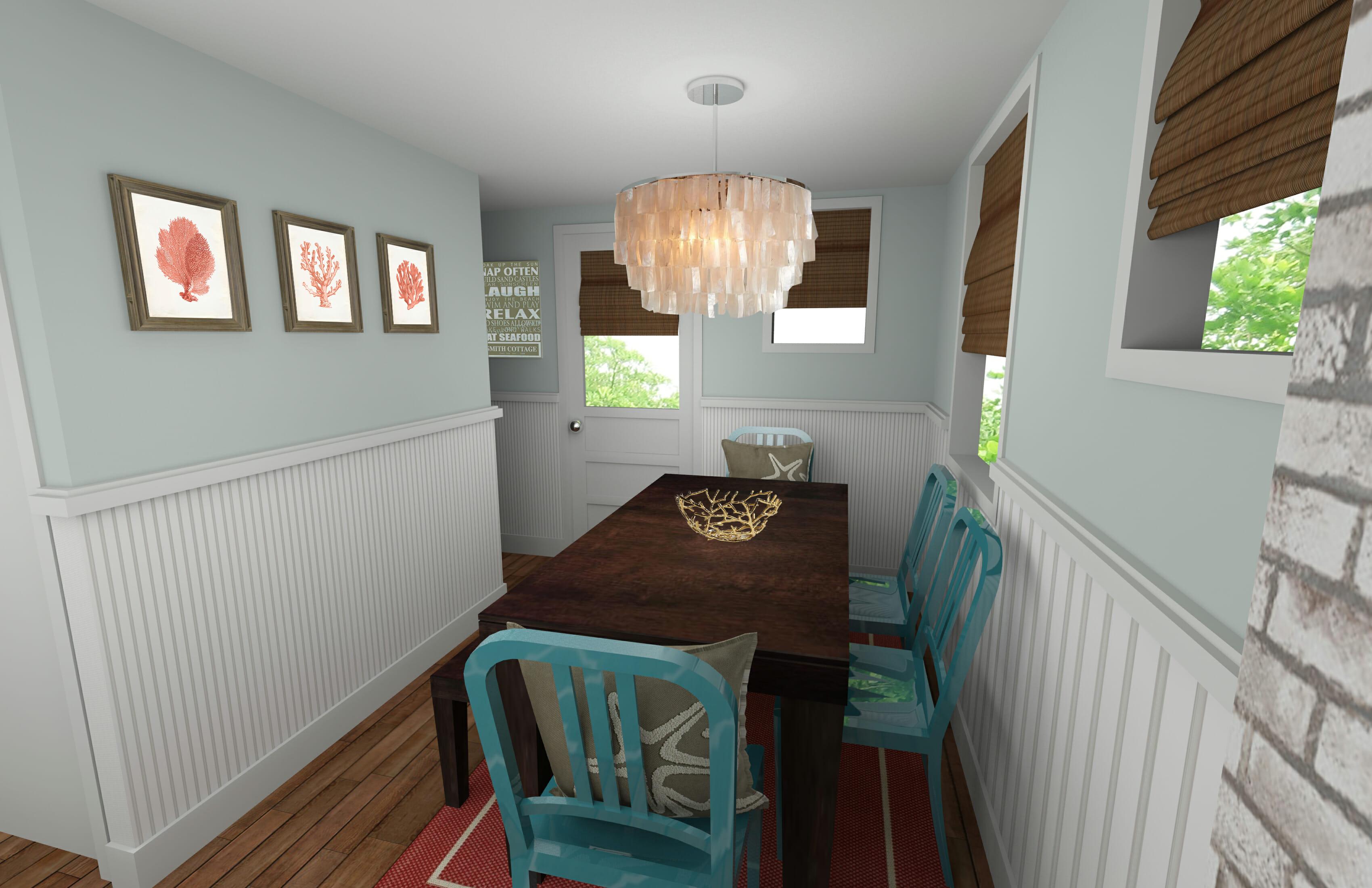 Online interior designer beach style dining room