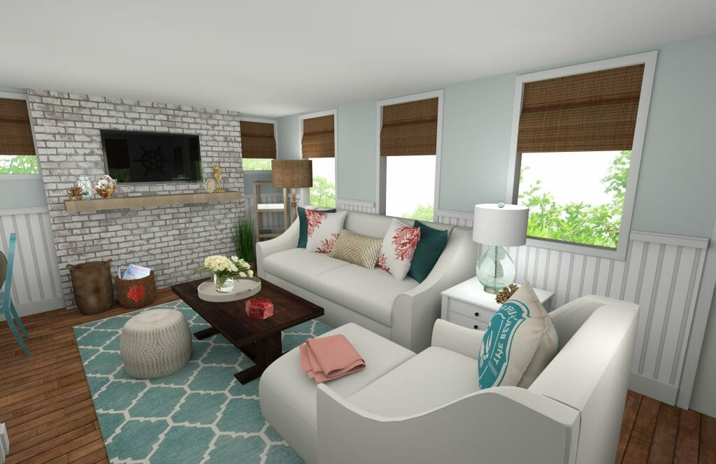 Great Online Interior Designer Beach Style Living Room