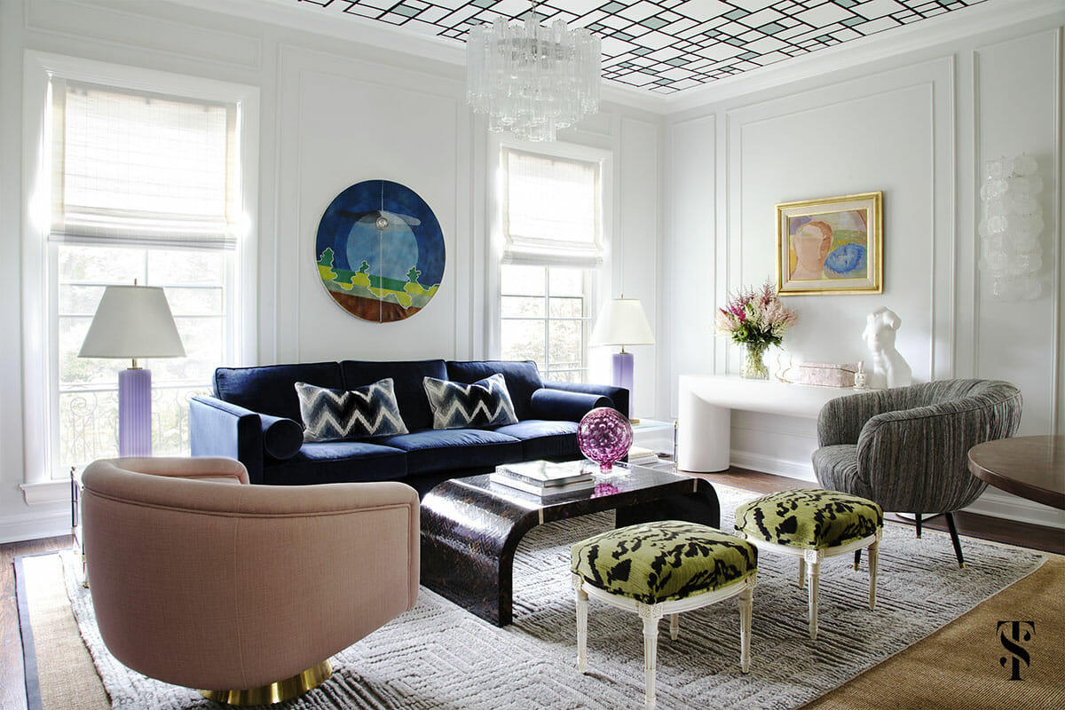 Top Chicago Interior Designers Summer Thornton Sitting Area