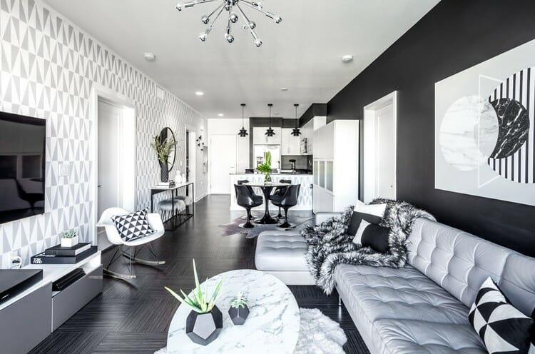 Online Interior Designer Spotlight Michelle Boudreau black and white