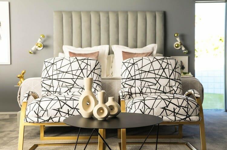 Online Interior Designer Spotlight Michelle Boudreau printed chairs
