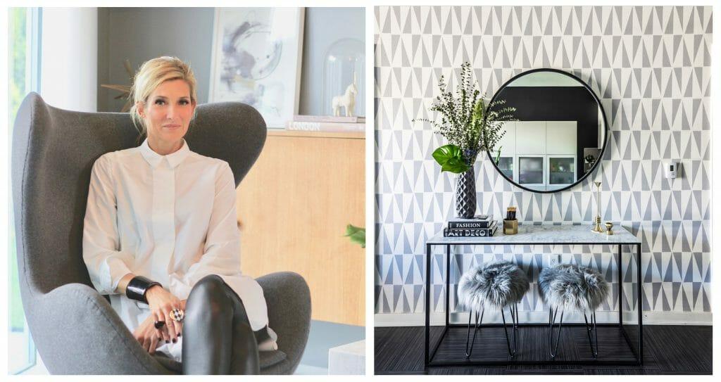 Online Interior Designer Spotlight Michelle Boudreau wallpaper accent wall