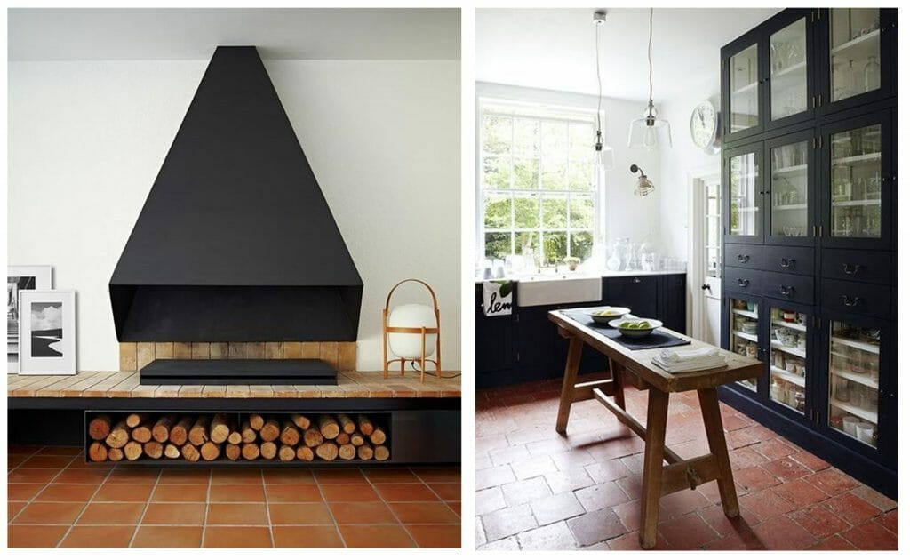 fall interior design trends terracotta tile