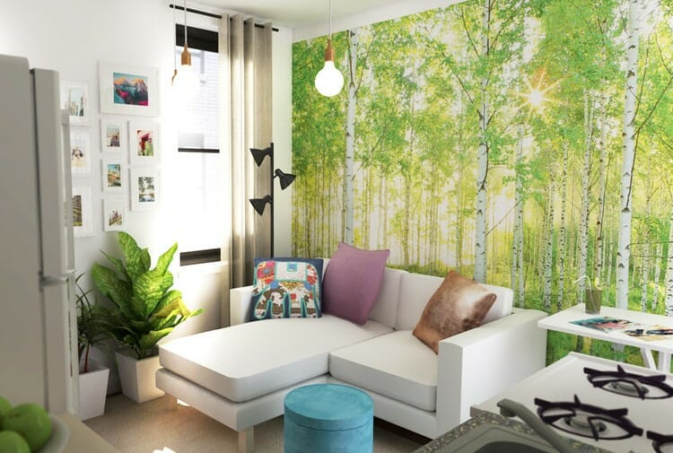 how to incorporate nature into your home- Eleni tree wallpaper