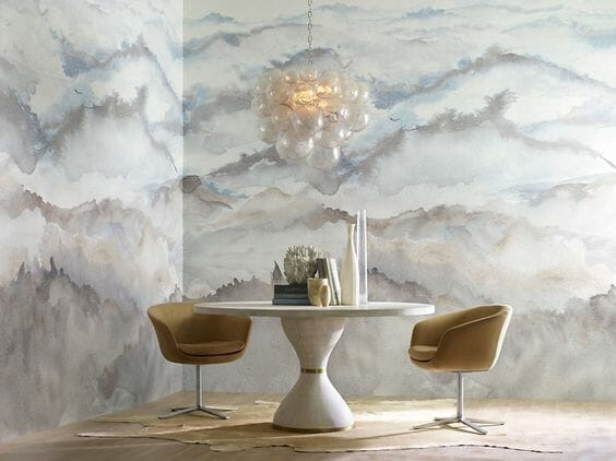 how to incorporate nature into your home-abstract wallpaper